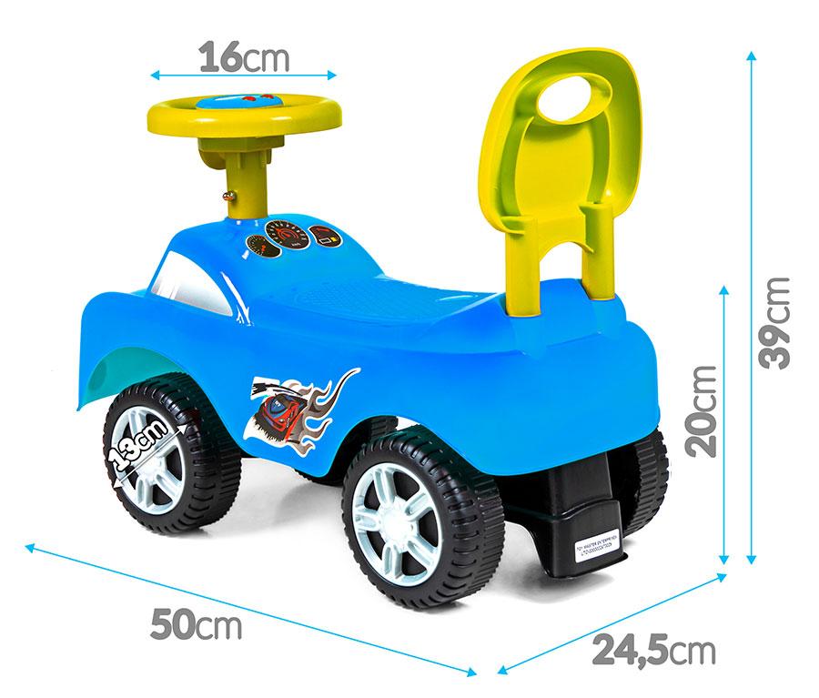 Jeździk interaktywny DreamCar - niebieski