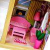 Drewniany domek dla lalek z akcesoriami SK-02