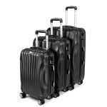 Zestaw walizek podróżnych 3w1 Sapphire ST-100 - czarne