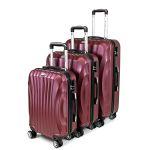 Zestaw walizek podróżnych 3w1 Sapphire ST-100 - fioletowe