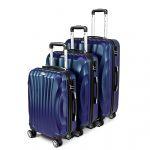 Zestaw walizek podróżnych 3w1 Sapphire ST-100 - granatowe