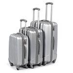 Zestaw walizek podróżnych 3w1 David Jones - srebrne