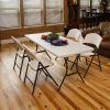 Półkomercyjne krzesło składane (biały granit) 2810