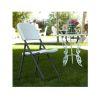 Półkomercyjne krzesło składane Loop Leg - biały granit 80155