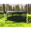 Trampolina Ogrodowa 374cm/12FT Czarna Maxy Comfort Z Wewnętrzną Siatką