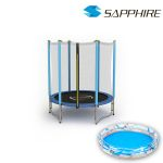 Trampolina Sapphire 4.6 FT 140 cm niebieska + BASEN GRATIS