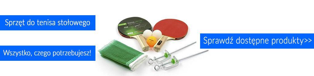 Sprzęt do gry w tenisa stołowego.