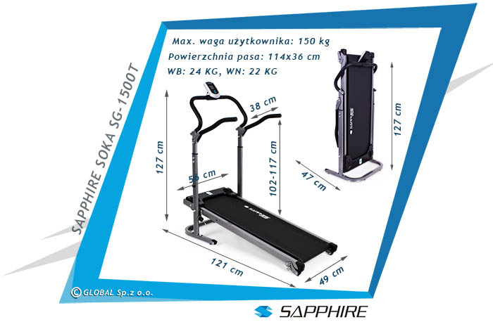 Bieżnia magnetyczna SG-1500 SOKA