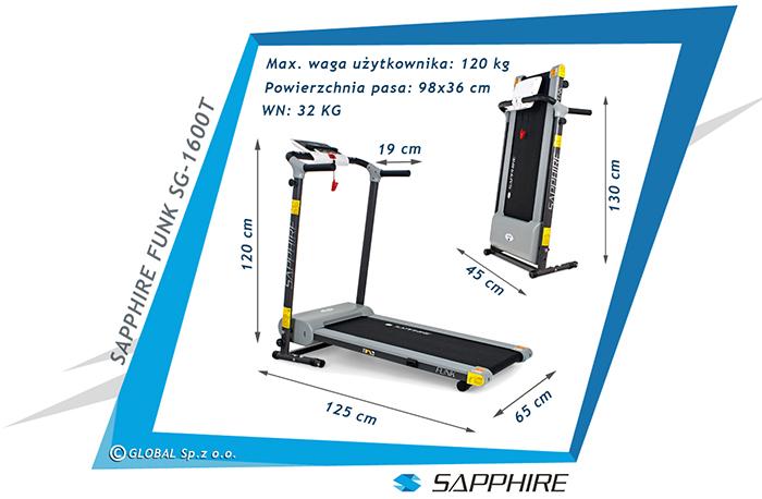 Bieżnia treningowa Sapphire SG-1600T FUNK