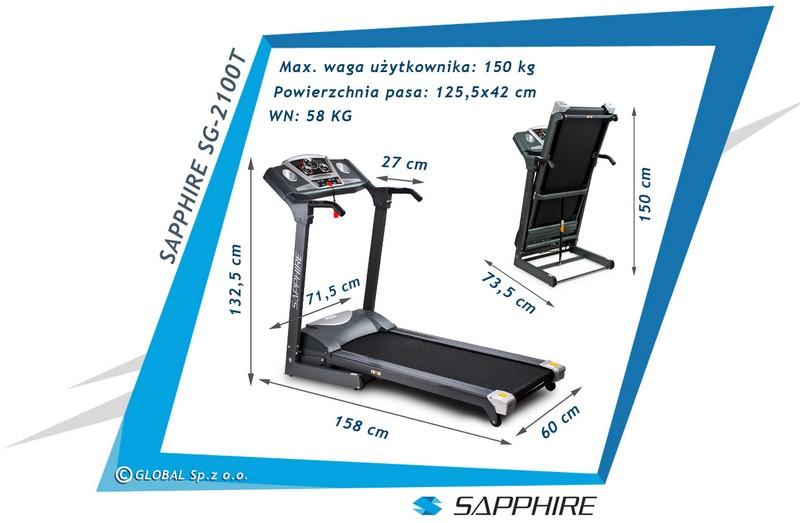 Bieżnia treningowa Sapphire SG-2100T JAZZ