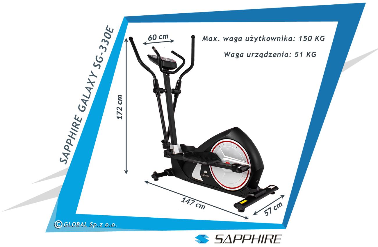 Orbitrek elektromagnetyczny SG-330E Sapphire Galaxy II czarny