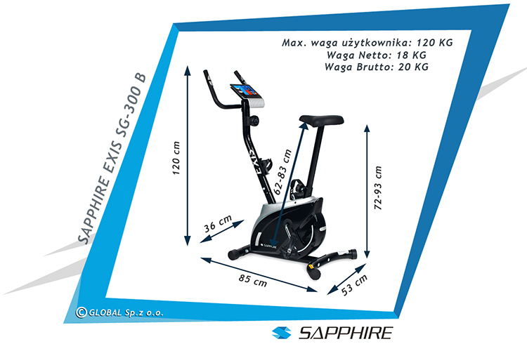 Rower magnetyczny Sapphire SG-300B EXIS