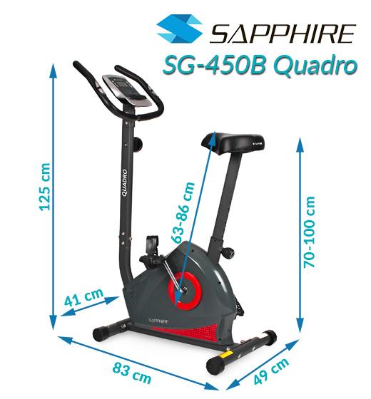 Rower magnetyczny Sapphire SG-450B Quadro - czerwony