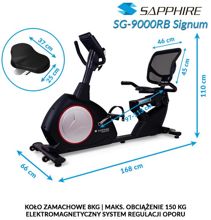 Rower poziomy Sapphire SG-9000RB SIGNUM