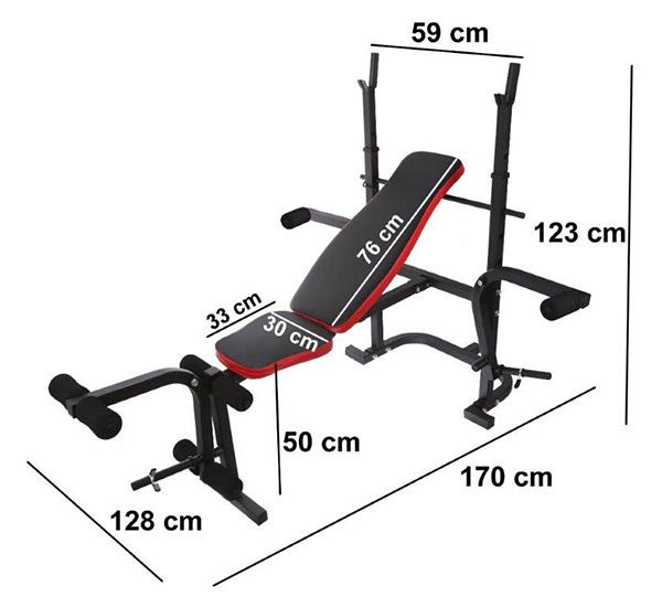 Wielofunkcyjna ławka treningowa HREBH11C-2