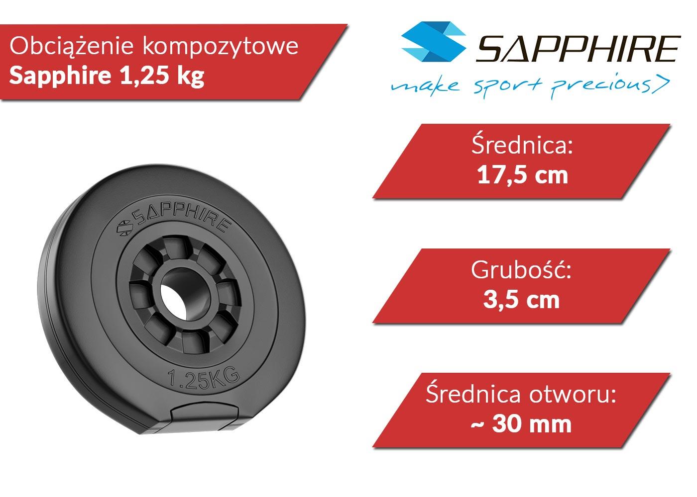 Obciążenia kompozytowe Sapphire 1,25 kg