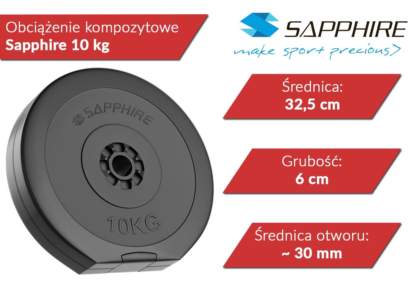 Obciążenia kompozytowe Sapphire 10 kg