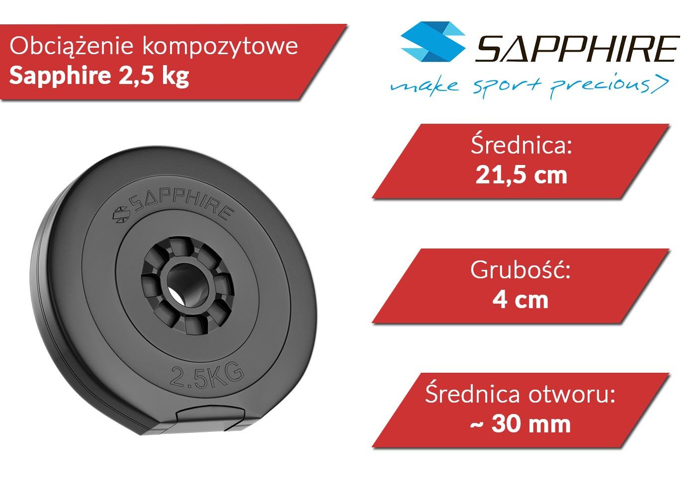 Obciążenia kompozytowe Sapphire 2,5 kg Xylo