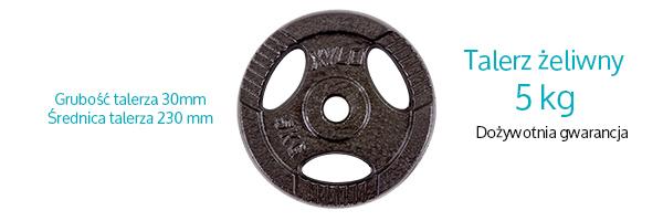 Obciążenie żeliwne 5 kg Xylo