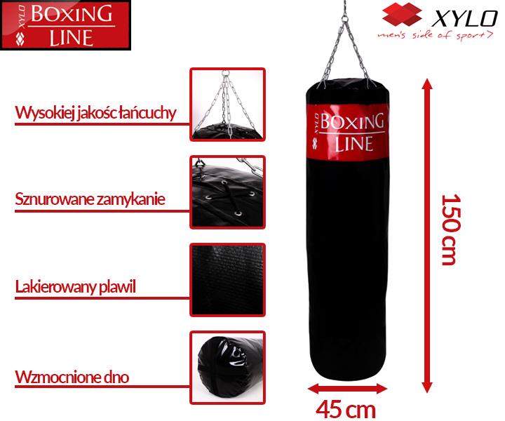 Oryginalny bokserski worek treningowy XYLO 150 cm