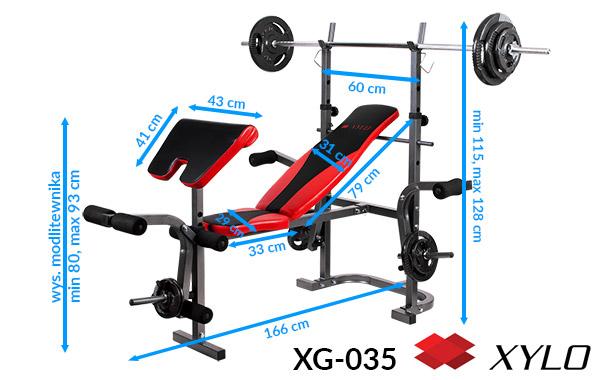 Zestaw obciążeń Xylo Master 72 kg
