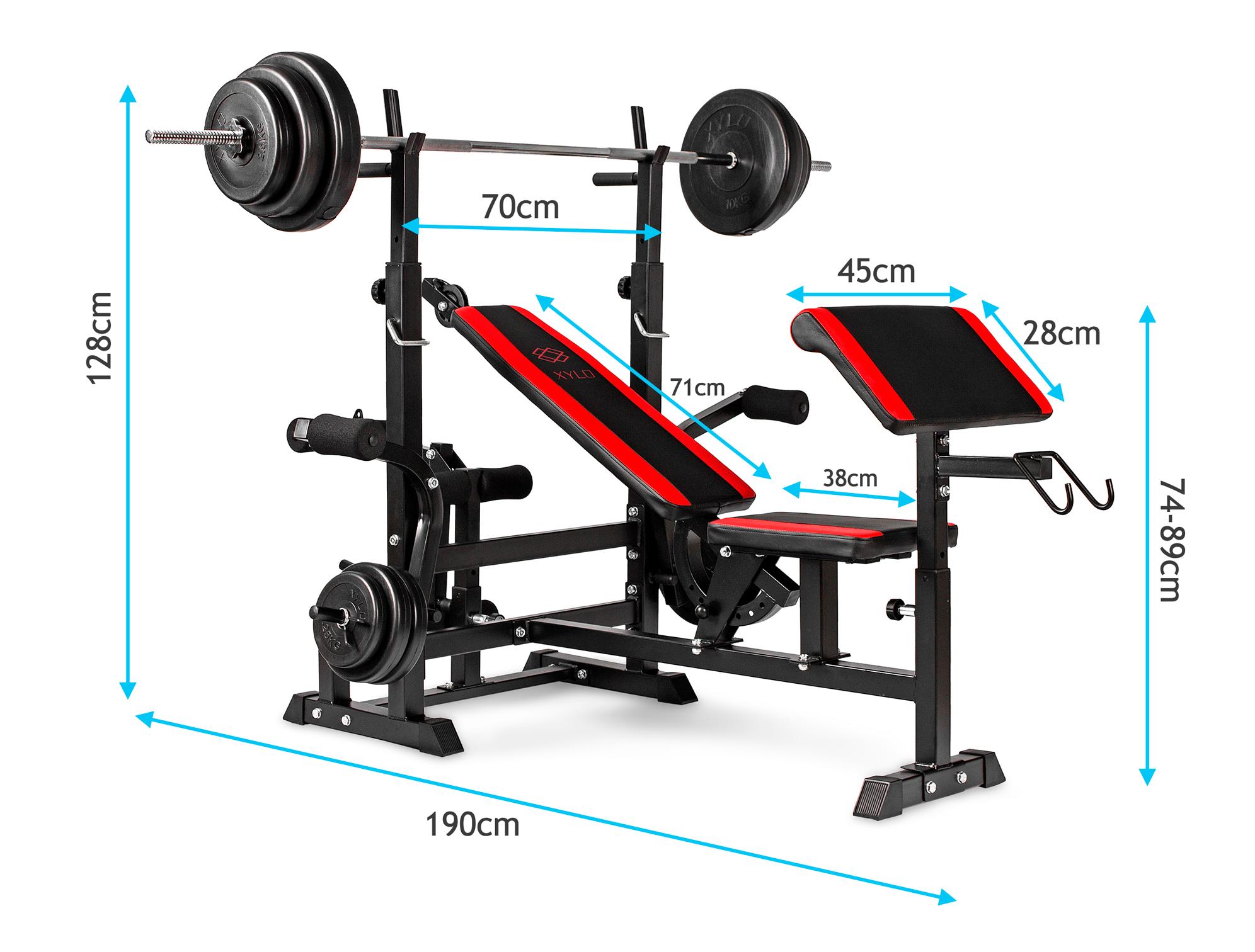 Zestaw obciążeń Xylo Solid 91 kg