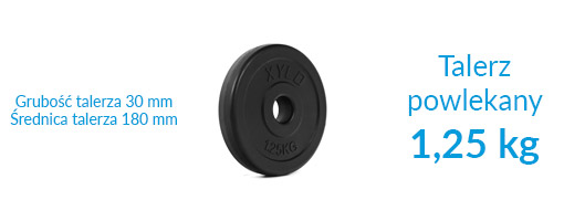 Zestaw obciążeń Xylo Solid 150 kg