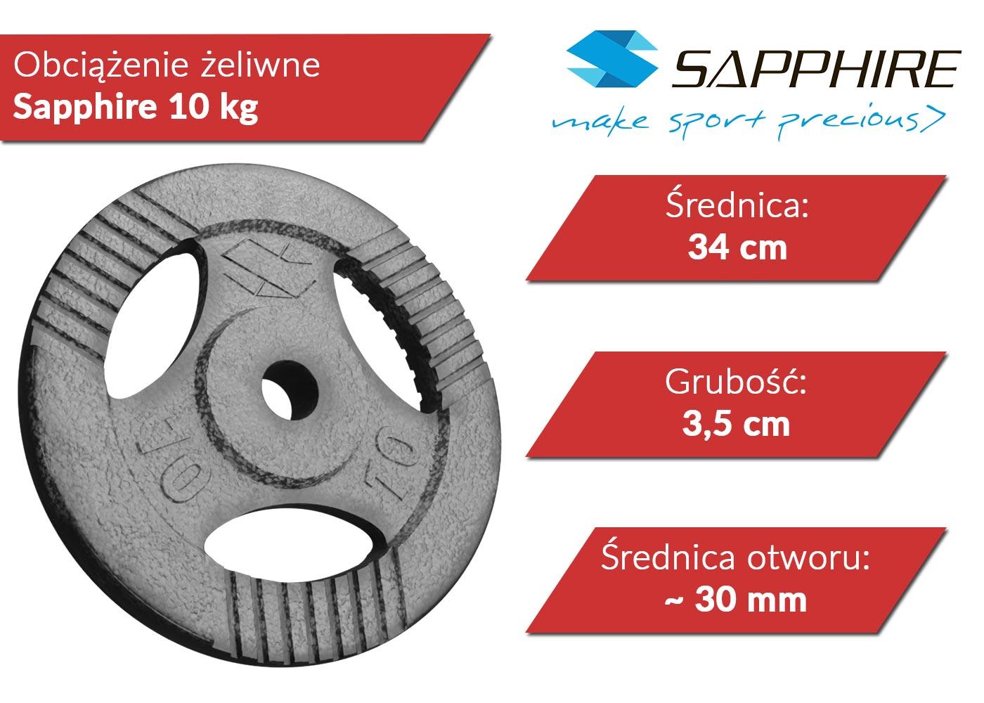 Obciążenie żeliwne Sapphire 10 kg