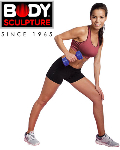 Hantle powlekane 2x2kg Body Sculpture SW102