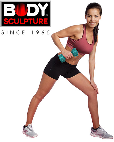 Hantle powlekane 2x3 kg Body Sculpture SW 103