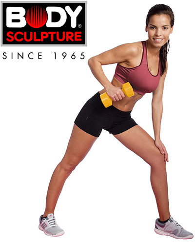 Hantle powlekane 2x4 kg Body Sculpture SW 104