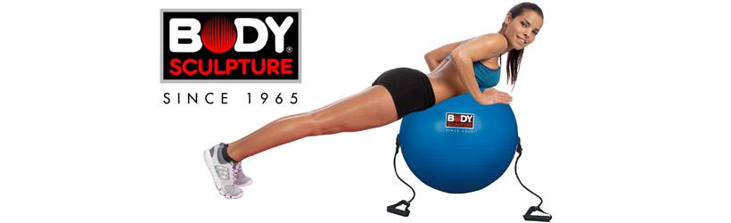 Piłka gimnastyczna 65 cm z gumami Body Sculpture BB 001TR