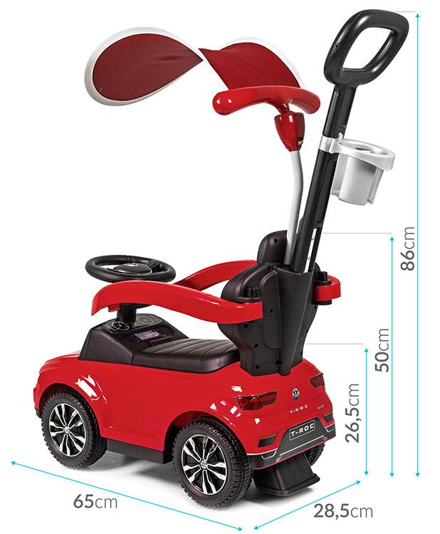 Jeździk pchacz dla dziecka Volkswagen T-ROC - czerowny