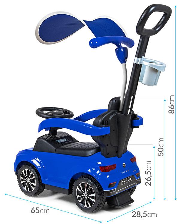 Jeździk pchacz dla dziecka Volkswagen T-ROC - niebieski
