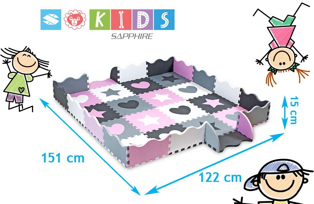 Mata puzzle z obrzeżami Sapphire Kids SK-25 - figury