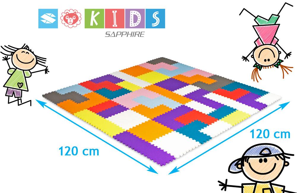 Podłogowa mata puzzle dla dzieci Sapphire Kids SK-28 - tetris