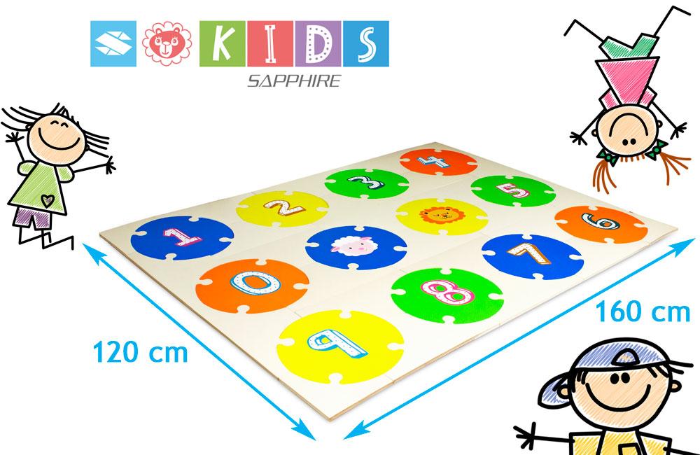 Podłogowa mata puzzle dla dzieci Sapphire Kids SK-29 - cyferki