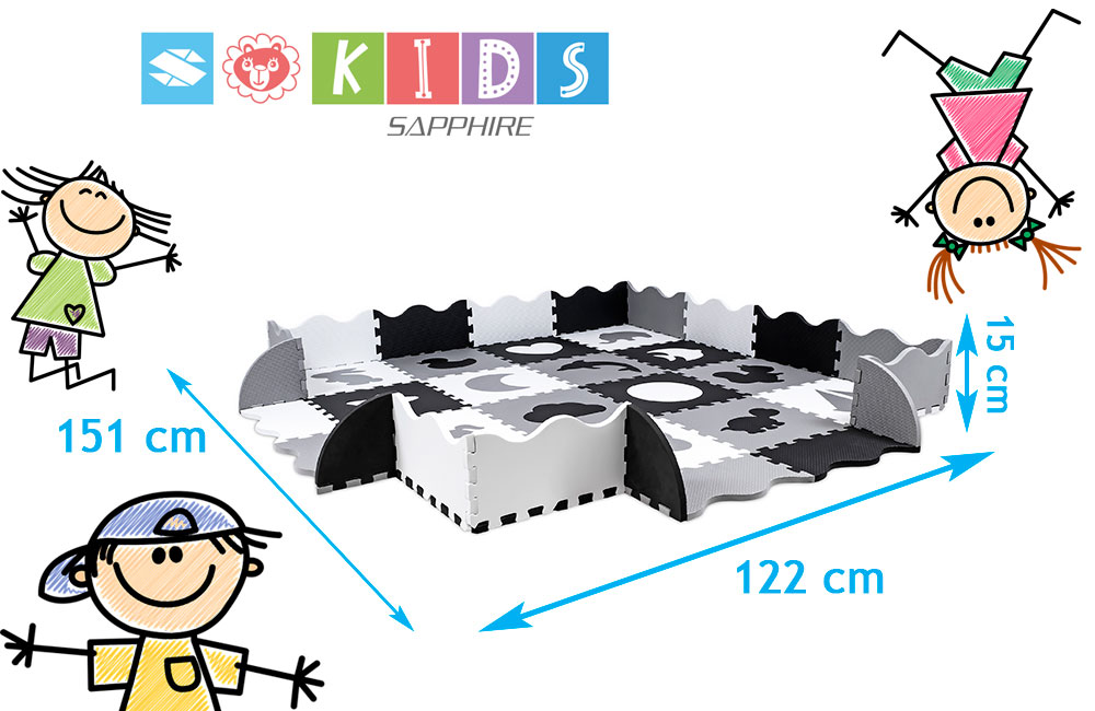 Mata puzzle z obrzeżami Sapphire Kids SK-33 - Mono