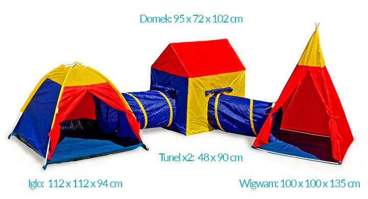 Ogromny namiot dla dzieci 5w1 labirynt