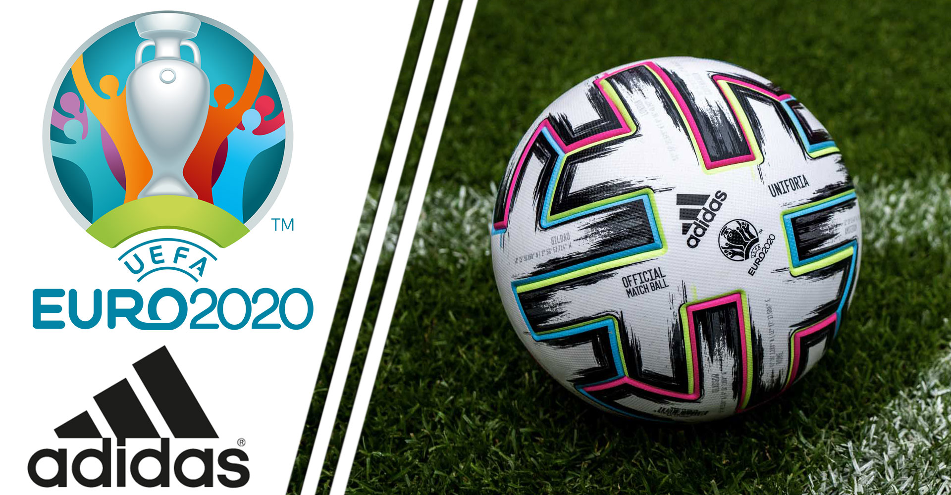 Piłka nożna Adidas Uniforia Euro 2020 Match Ball Replica FH7376 Box