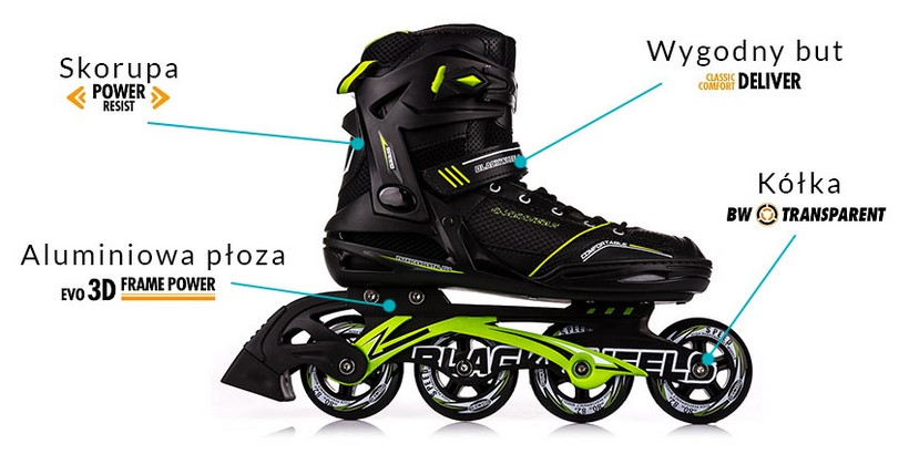 Rolki fitness Slalom Blackwheels