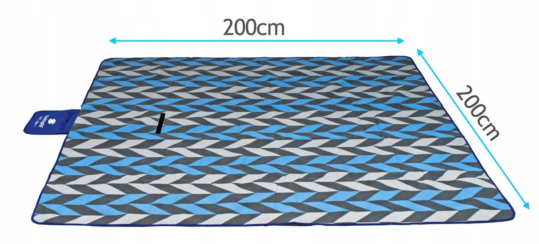 Koc piknikowy / plażowy Sapphire 200 x 200 cm z folią aluminiową - trojkaty