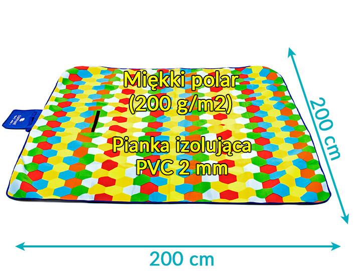 Koc piknikowy / plażowy Sapphire 200 x 200 cm z folią aluminiową - honey