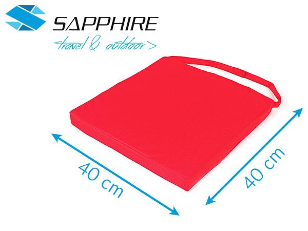 Poduszka na krzesło Sapphire - czerwona