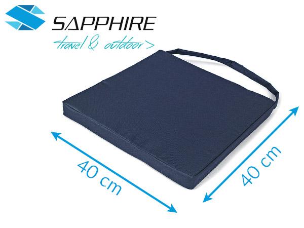 Zestaw poduszek na krzesła Sapphire - beżowe - 4 sztuki
