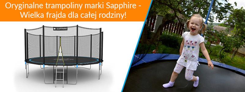 Trampolina Sapphire 8 FT 252 cm + drabinka