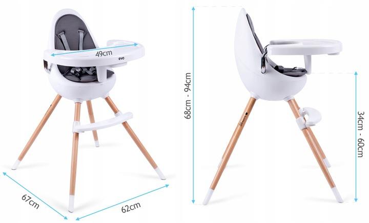 Krzesełko do karmienia Evo